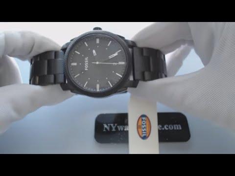 Men's Black Fossil Machine Steel Watch FS4775