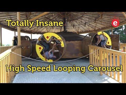 Totally Insane Looping Carousel @ Legendia Park in Poland