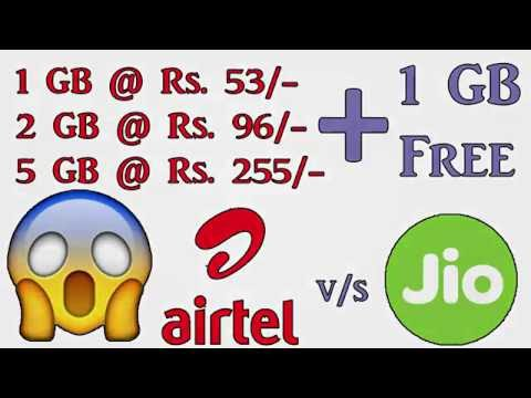 AirTel 3G/4G 1 GB FREE Data + Recharge 1GB @ Rs.53 | Know More