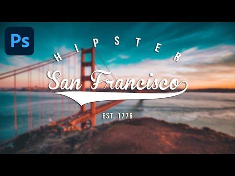 Adobe Photoshop - Hipster Logo Design