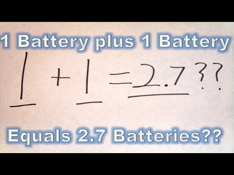 Parallel Batteries Don't Add part2: When 1+1 = 2.7