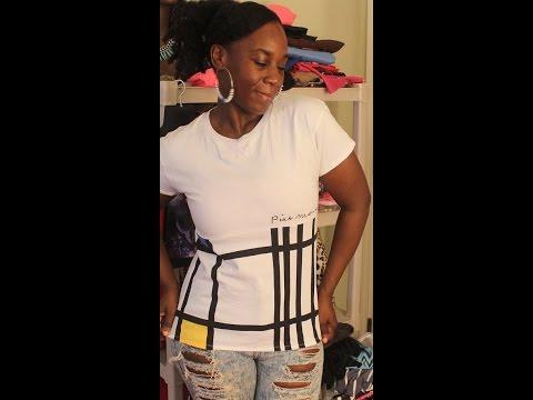 Kharyzma DIY: How to Make a Baggy Shirt Smaller/Girly