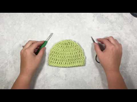 How to Crochet A Hat for Complete Beginners - Left Handed