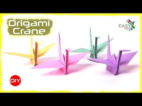 How to make a Paper crane | Step by Step Easy Origami tutorial | Origami Flapping Bird making