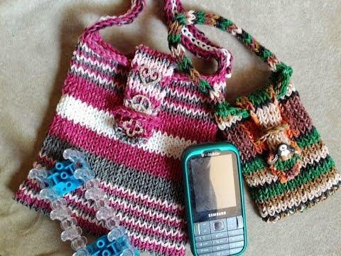 Rainbow Loom Bag Tutorial, 2 Sizes with Charms