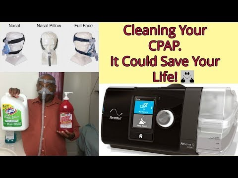 SLEEP APNEA IS DEADLY - HOW TO CLEAN YOUR CPAP MACHINE