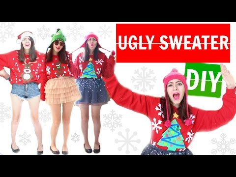 Ugly Christmas Sweater DIY (Sub. Spanish)