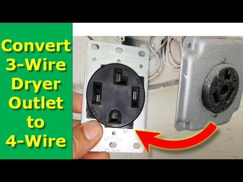 How To Convert 3 Wire Dryer And Electrical Outlet to 4 Wire