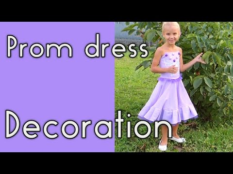 Prom Dress Decoration + How To Hem a Circle Skirt.