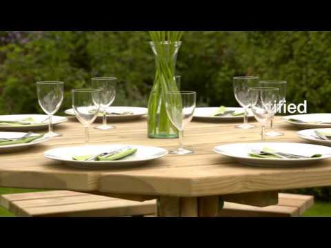 Zest4Leisure   Alex Octagonal Picnic Table