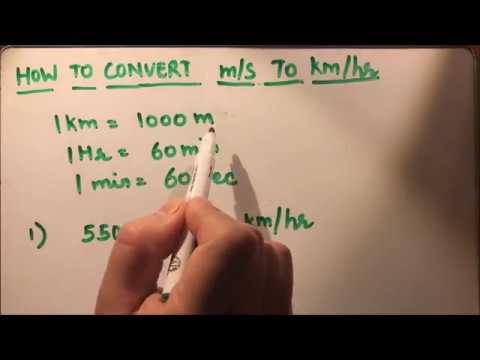 HOW TO CONVERT M/S TO KM/HR (meters per sec to kilometers per hour)