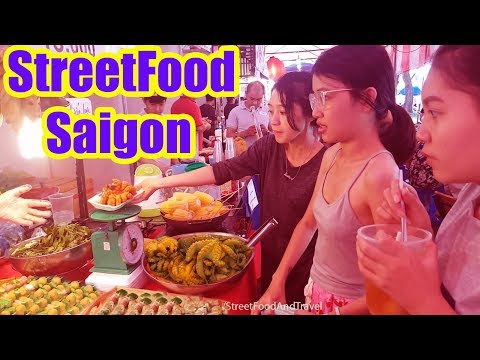 Street Food Vietnam 2017 - Saigon Central Market - Hoi Cho Am Thuc Duong Pho