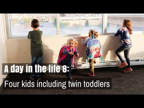 A DAY IN THE LIFE 8: FOUR KIDS including TWIN TODDLERS | Nesting Story