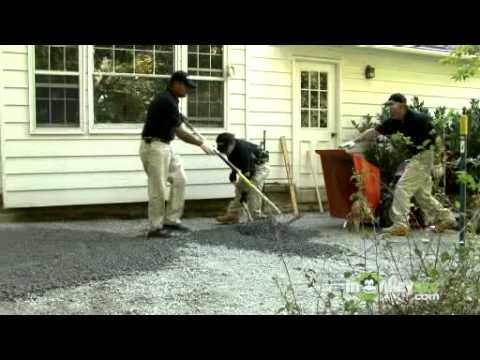 Installing Paving Stones -- Base Installation, Compaction and Sand Screeding
