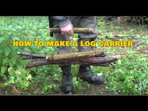 How To Make a Log Carrier