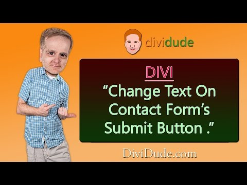 Divi Tutorial: Customize / Change Submit Button Text in Contact Form