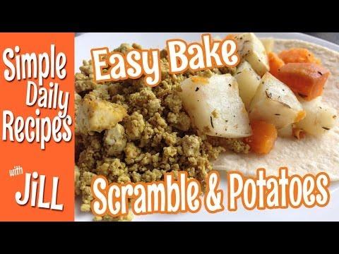 Baked Tofu Scramble and Potatoes