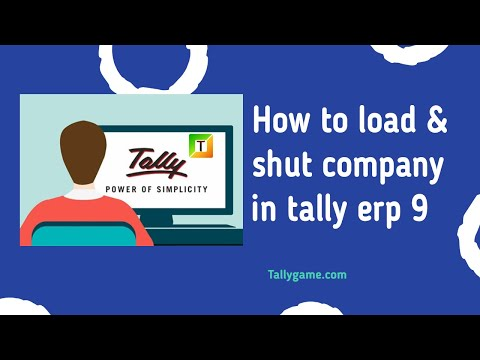 How to select/open and close /shut company in tally ERP9