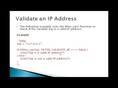 Validate an IP Address PHP Tutorial in Urdu and Hindi