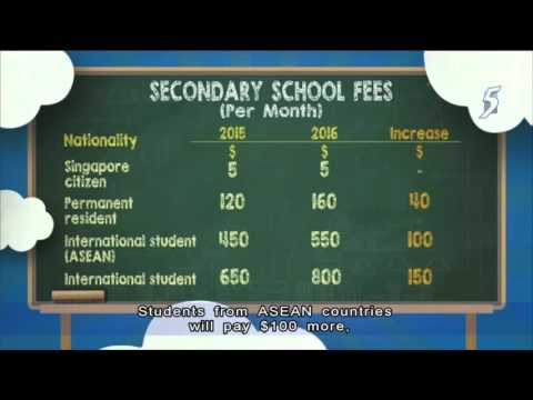 Singapore :PR and foreigners will pay higher school fees