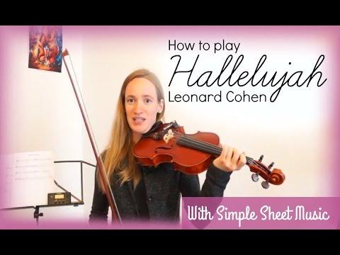 Hallelujah - Leonard Cohen (how to play) | Easy Violin Tutorial