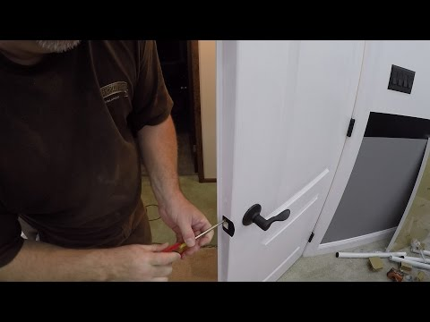 How to Install Door Handles on Double Doors / How to Install a Dummy Door Handle