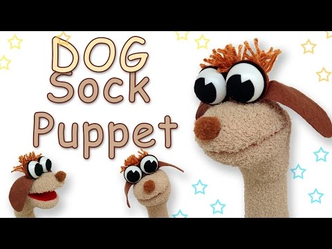 DIY Puppets - How to make a Dog Sock Puppet - Ana | DIY Crafts