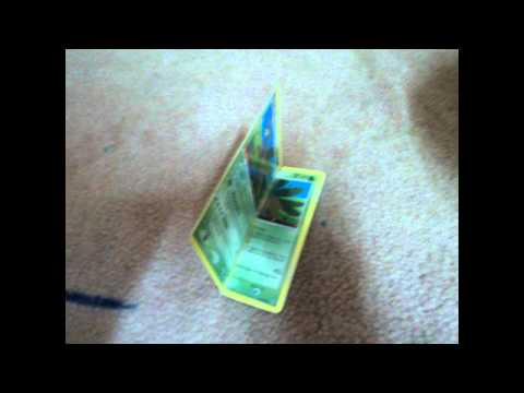 How to make a deck box with 4 pokemon cards!.