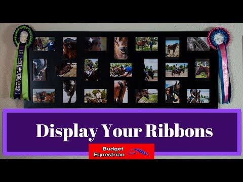 A Different Way To Display Horse Show Ribbons