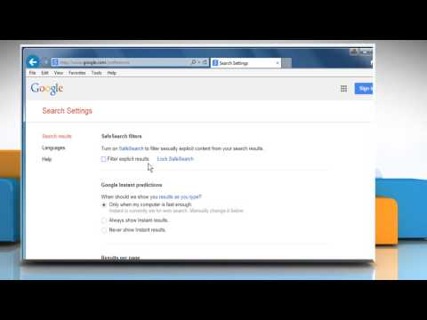 How to enable/disable Google Safe Search