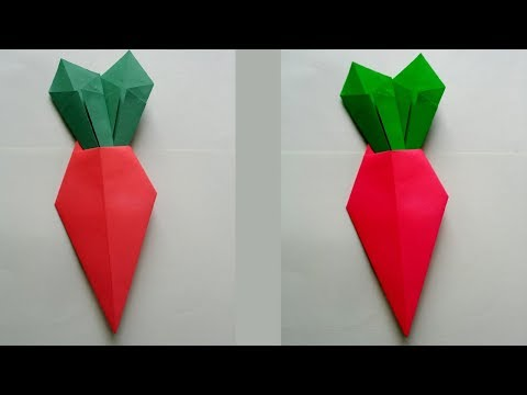 DIY: How to Make Easy Origami Carrot !!!