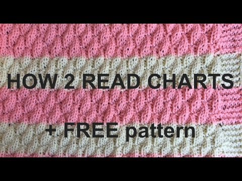 Learn How To Read Knitting Charts Plus Pattern For Blanket (4 Beginners)