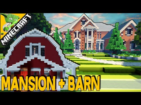 Minecraft Mansion, Barn, Guitar-Shaped Pool, Amazing layout | Best Mansion of 2015 |