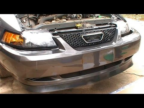 How to Install Replace a Front Bumper Cover and Header Panel on a 1999 - 2004 Ford  Mustang