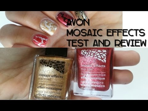 AVON MOSAIC EFFECTS TEST AND REVIEW || NAILSDONEPE