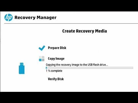 How to create USB Flash drive recovery image using HP Recovery media creation tool in HP pavilion