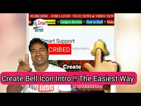 How to make Subscribe & Bell icon Intro!! Easiest step by step Tutorial