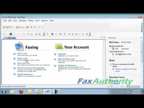 eFax Review - Sending a Fax from eFax(R) Messenger & Directly from a Scanner
