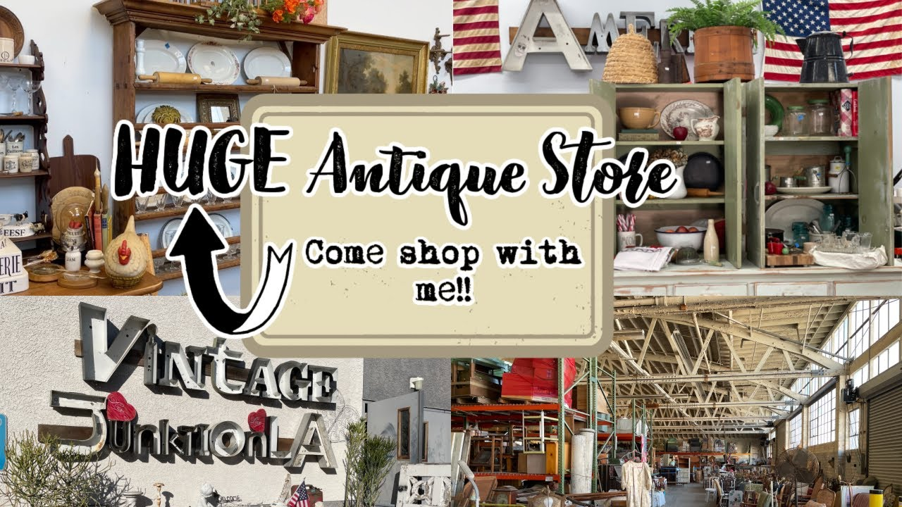 HUGE ANTIQUE STORE | COME SHOP WITH ME!!! | RARE FINDS!!