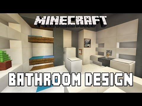 Minecraft Tutorial:  How To Build A Modern House  Ep.7  (Bathroom Furniture Design Ideas)