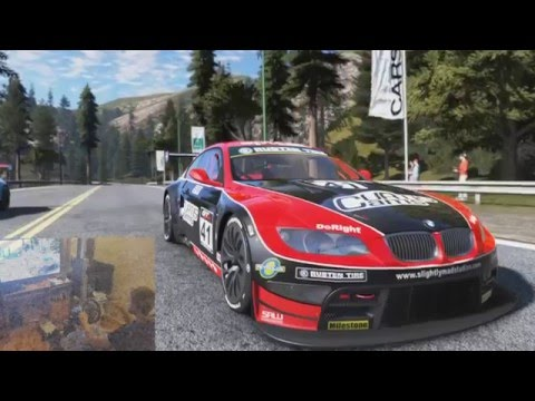 Project Cars Ps4 - G29 + shifter with Wheel Stand Pro - BMW M3 GT California Highway