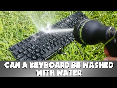 CAN A KEYBOARD BE WASHED WITH WATER?
