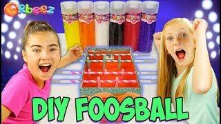 Amazing DIY Orbeez Foosball Table Game!   Official Orbeez