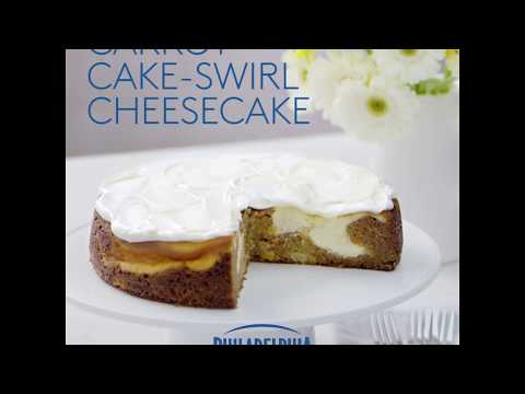 Carrot Cake-Swirl Cheesecake