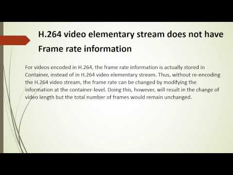 How to trim H.264 video losslessly without re-encoding the video based on frame numbers?