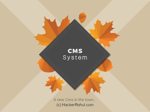 Make a CMS/Blog in php and mysql - HackerRahul