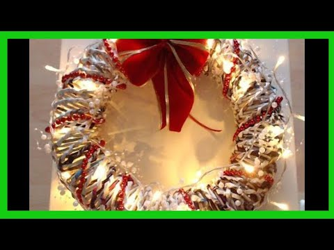 Christmas decorations - How to make an indoor wreath