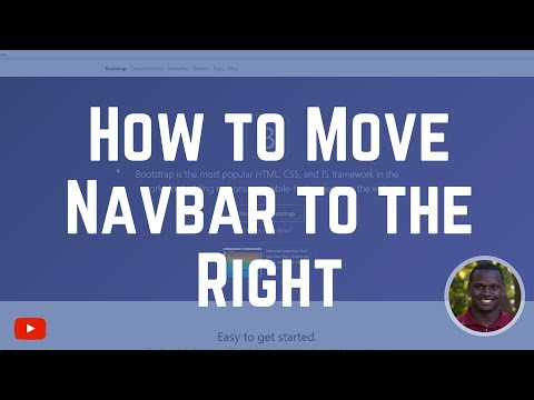 How to Align Navbar Item to the Right in Bootstrap 4