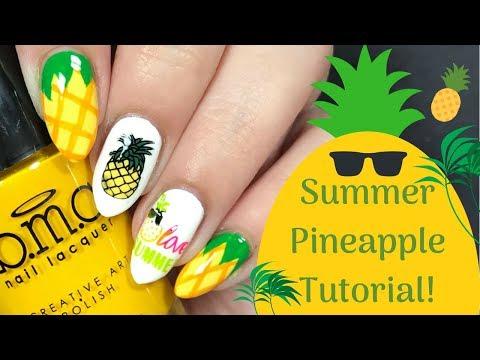 Summer Pineapple Nail Art Tutorial!