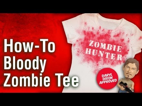 How-To Make a Zombie Shirt Costume - The Walking Dead